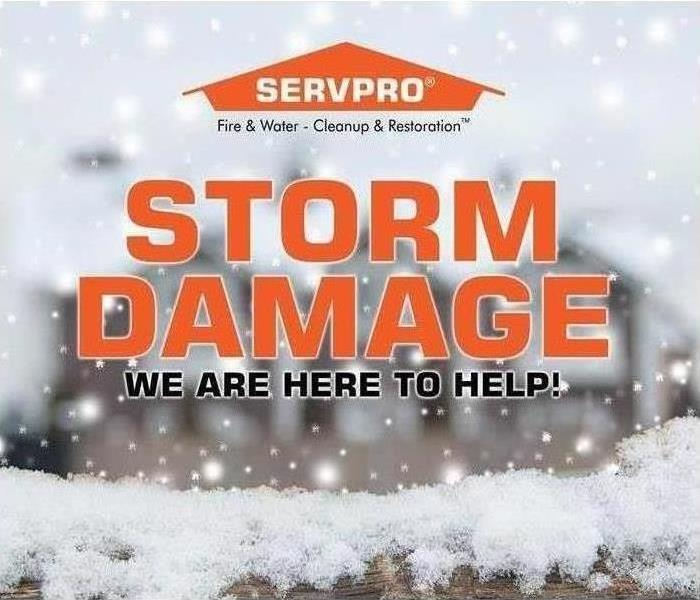 Storm damage - we are here to help!